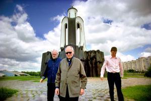 Rundvandring i Minsk med Jan Troell, George Oddner och sällskapets chaufför.