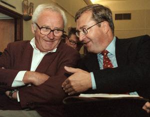 Erik Åsbrink och Kjell-Olof Feldt. Foto: TT.