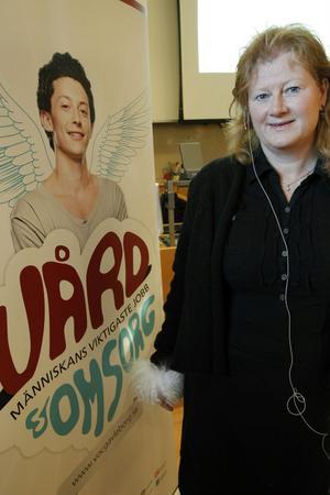 Rektor för VO-college, Anna-Karin Zackrisson Larsson, var nöjd med torsdagens invigningsceremoni.