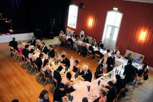 Det var drygt 70 studenter med sällskap som deltog i årets bal.