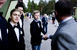 Malte Lovén, till vänster, ska njuta av sommarlovet.