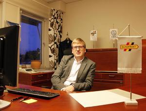 Markus Sundström är vd på Sundfrakt. Han är kritisk till att göra E4 genom Sundsvall enfilig.