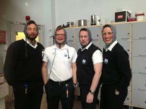 Fina kollegor på SOS alarm i Östersund. Magnus, Johnny, Uno och Sandra. Glad påsk önskar vi och ta det lugnt i påsktrafiken!
