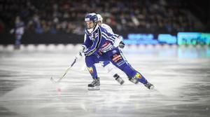 Daniel Andersson gjore två mål och en assist i första halvlek mot Vänersborg i den första kvartsfinalen.