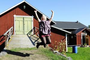Theresa Flatmo (C) är jublande glad efter framgången i Bräcke