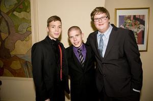 Jakob Sindenius, Anton Rubin och Hannes Aldsjö.
