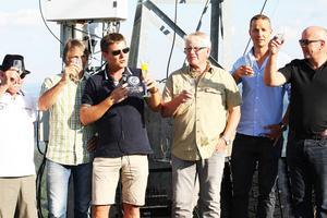 Styrgruppen för gondolbanebyget, P-O Nilsson, Jens Wilhelmsson, Mikael Olsson, Bror Norberg, Niklas Frisk, Per Åberg.