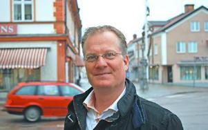 Styrelseordförande Jörgen Bond ifrågasätter hela Leksand i Centrums existens. Foto: Annki Hällberg