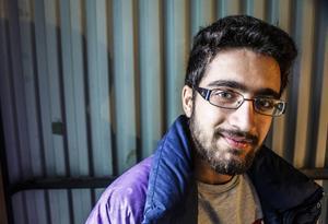Abdulla Issa, 19, kommer från en småstad i Syrien. Målet är att stanna i Sverige för att studera och arbeta.