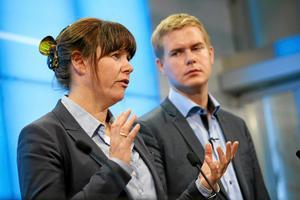 Åsa Romson/Gustav Fridolin, MP:Hon är trygg och påläst. Han är mer en agitator och kampanjmänniska. Tillsammans fungerar de bra.
