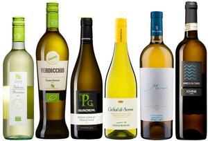 Sex goda och mycket prisvärda vita italienska viner på Systembolaget just nu.