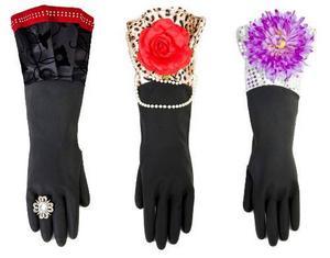 Handskar för galamiddag eller diskning? När det gäller de här läckra diskhandskarna från Inreda.com är det svårt att veta säkert.