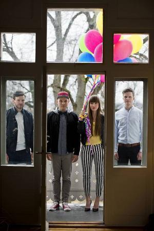 Ellen Andrea Wang med sina kollegor i norska Pixel som spelar på Jazzköket fredag kväll.