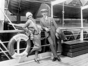 Greta Garbo och Mauritz Stiller 1925.
