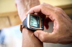 GPS-klockan är alltid med på träningspassen.