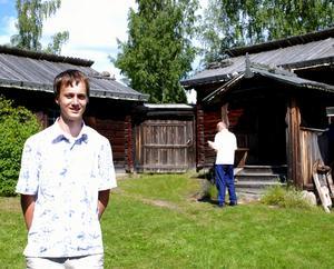 Guide. Samuel Lundback som arbetar som guide på gården under sommaren. Foto:Göran Persson
