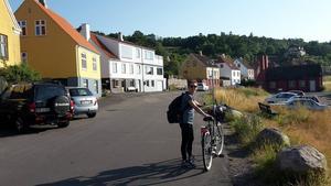 Stanna till vid byarna. Det rådet ger Margaretha Gustavsson, som just cyklat runt Bornholm.   Foto: Pelle Gustavsson