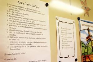 I Nexus lokaler finns massvis med information och tips och råd hur man kan jobba med att bli fri sitt missbruk.