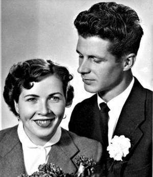 Solveig, född Eriksson, och Sven Stigenberg, Gävle firar 50-årig bröllopsdag i dag. De vigdes i Åmots kyrka 3 oktober 1959. Högtidsdagen firas tillsammans med familjen och vänner.