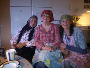 En vanlig dag på jóbbet på Snorres väg.  Annamaria Olofsson, carina norin och eva-Karin pettersson