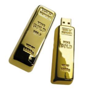 Information kan vara lika värdefullt som guld så ett USB-minne i form av en guldtacka är högst passande. Finns på Buttericksedge.se