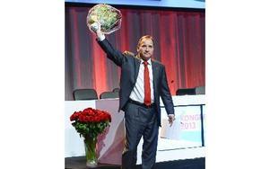 Socialdemokraternas partiledare Stefan Löfven går stärkt från kongressen i Göteborg.