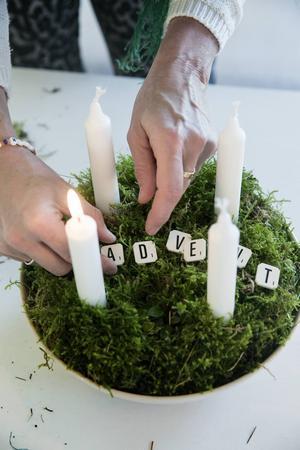 Susanne är svag för bokstäver och dekorerar gärna med bokstäver från barnens gamla Alfapet.