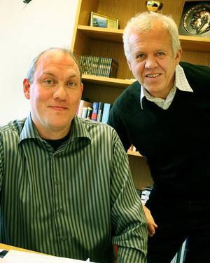NY OMBUDSMAN. Torgny Jacobsson, till vänster, tar över som ombudsman i ABF Gästrikebygden när Lars Bäckius går i pension.Foto: Ulrica Källström
