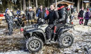 Joakim Nömell är helt blind vilket inte hindrade honom från att köra fyrhjuling på Kulltjärn.