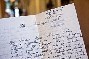 Anders Robert Nilsson brev till kungen är som konstverk i sig.