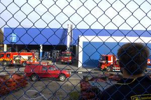 Vid halvfyratiden på onsdagseftermiddagen utbröt en brand i måleriet på Meritor i Lindesberg.