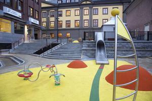 Foto: Claes Söderberg. Sara Grandrud ser Geislerska parken i Falun som en bra förebild för en aktivitetspark i centrala Söderhamn.
