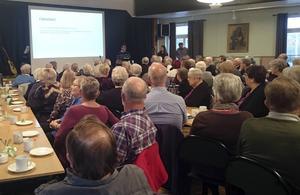 Tre medicinska förläsare och många åhörare fanns på plats när Hjärt- och Lungföreningen i Borlänge höll möte på temat hjärtsvikt.