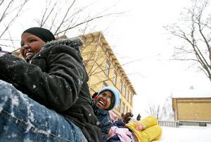 Sista vintern på Borgmästargården. Nästa vinter kommer 70-talet elever att ha flyttat ett stenkast längre ner, till Faxeskolan.