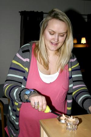 Sandra Österman är fritidsledare några timmar på fredagar i Lekebergskyrkan.