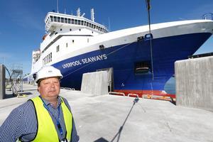 Peter Lundman, driftchef i Kapellskärs hamn.