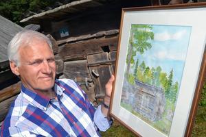 – På söndag ska jag sitta utanför ett svinhus som Gössa-Anders Andersson skänkt och måla av det, berättar Per Ståbi.