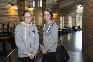 Hannah Öhman och Matilda Andersson-Knut kände sig ganska nöjda efter den första delen.