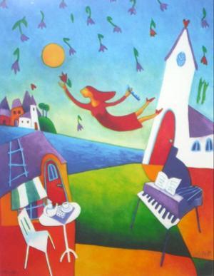 En av Ingrid Roths målningar.