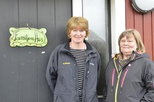 Oroade. Dagbarnvårdarna Anette Bergman och Inger Sandhu är glada för nya lokaler i Kompassen, men oroas över att föräldrar byter omsorgsform eftersom de anser att det blir för långt att åka mellan Hässleberg och centrala Hallsberg. Foto: Katarina Hanslep