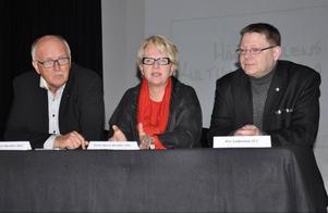 Lars Axel Nordell, Anne Marie Brodén och Per Lodenius var imponerade av det arbete som lagts ner på Härjedalens Kultrucentrum