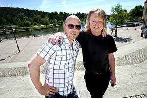 Johan Boding och Janne Schaffer på Marenplan. Arkivfoto: Paola N Andersson