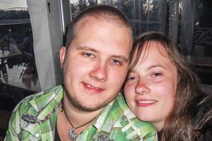 Samboparet Zebastian Löfhaugen och Agneta Andersson hade ingen fiskelycka men fick en annan fångst.