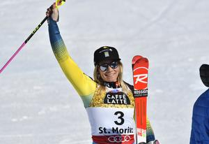 Frida Hansdotter tog VM-brons i slalomen i St. Moritz.