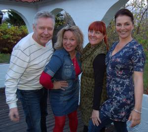 Midvinterblot firar 10 år. Från vänster Roger Zackrisson, Maria Nilsson, Katarina Sakrisson och Camilla Collett.