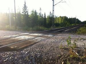 En obevakad järnvägskorsning. Foto: Arkivbild