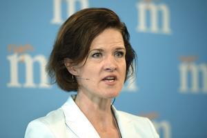 Moderaternas partiledare Anna Kinberg Batra höll pressträff på Moderaternas nya partikansli på Balsieholmen i Stockholm.