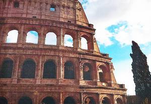 Rom är en av de städer som besöktes.
