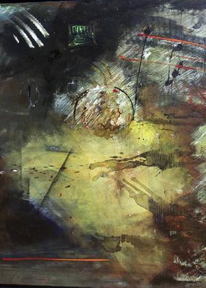 Målning av Cicily E Bäckström.