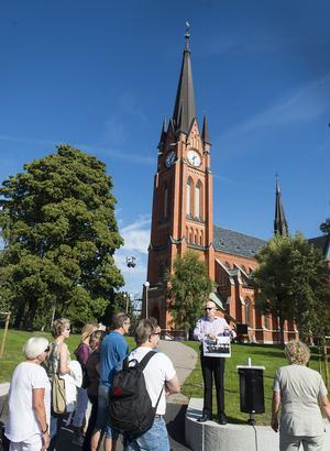 Den gamla kyrkan, som låg på samma plats som GA-kyrkan, var bara ett skelett efter branden.